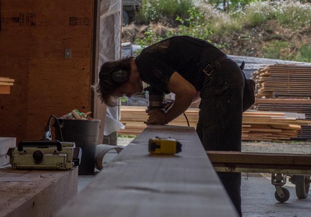 Warburton Woodworks Employee Working